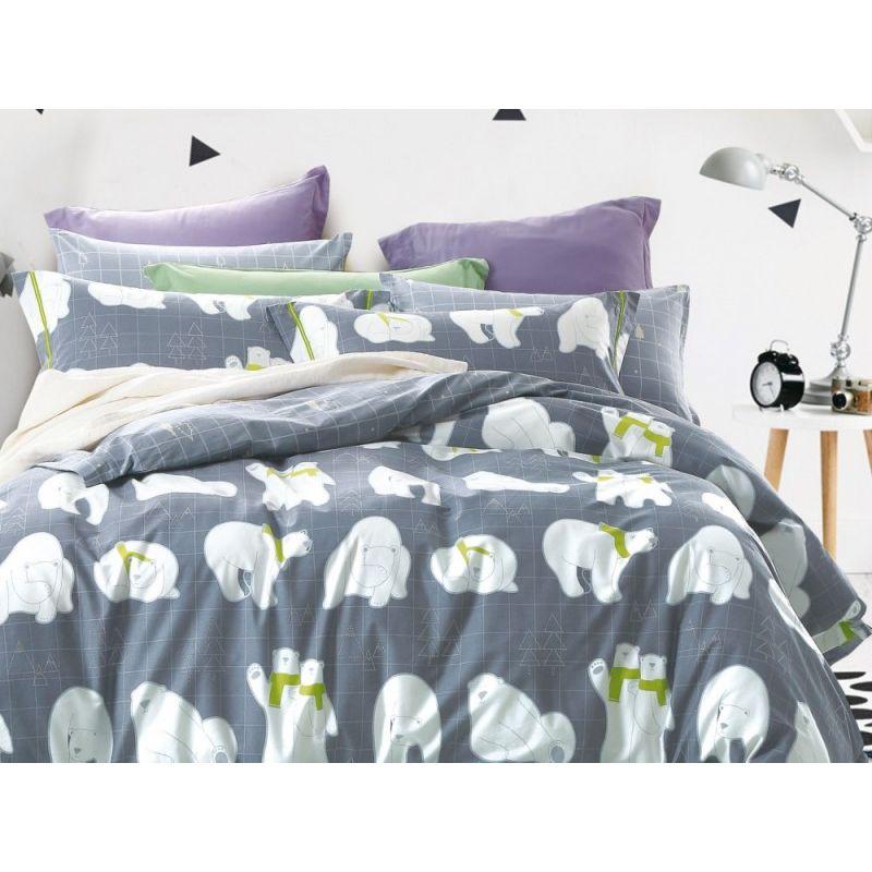 Комплект постельного белья 1,5-спальный, печатный сатин 977-4XS