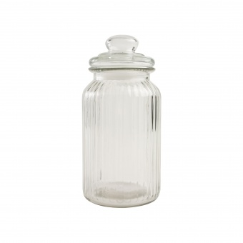 T&G Ёмкость для хранения Glass Jars Ribbed 22,5*11,3 см