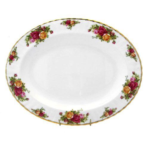 Блюдо овальное 33см Розы Старой Англии