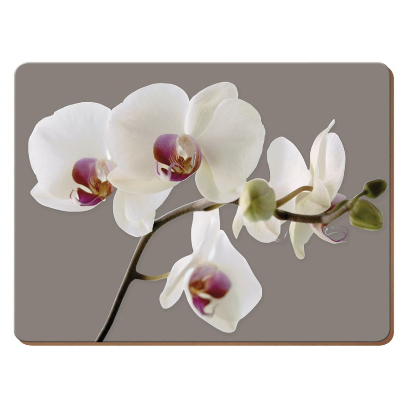 Подставки на пробке средние Гармония орхидей 30х23 см (6шт)