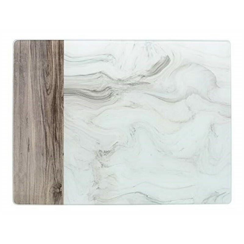Доска стеклянная Мраморный мотив 30х40 см