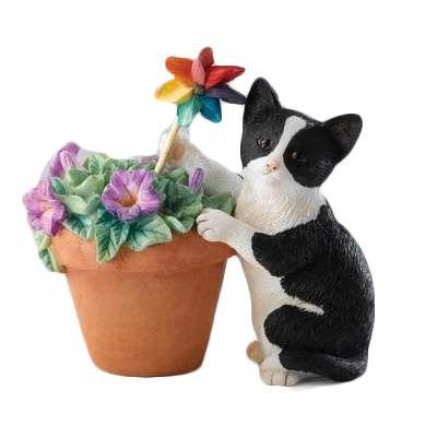 Котенок с петунией 8 см