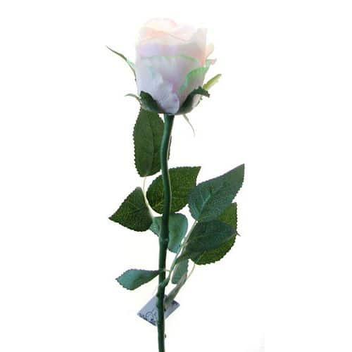 Роза Богема бело-розовая 65 см живое прикосновение