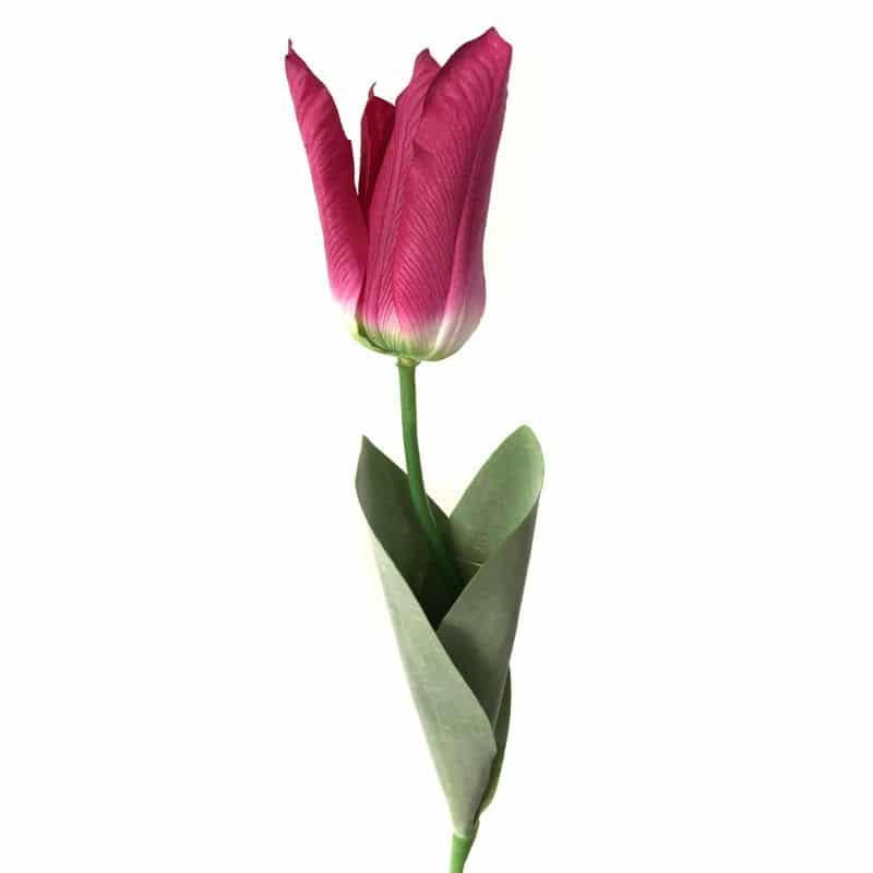 Тюльпан Фаворит красный 58 см живое прикосновение