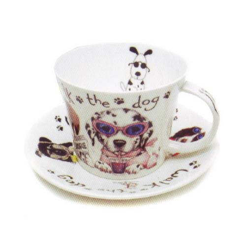 Чайная пара для завтрака Собаки модники 500мл
