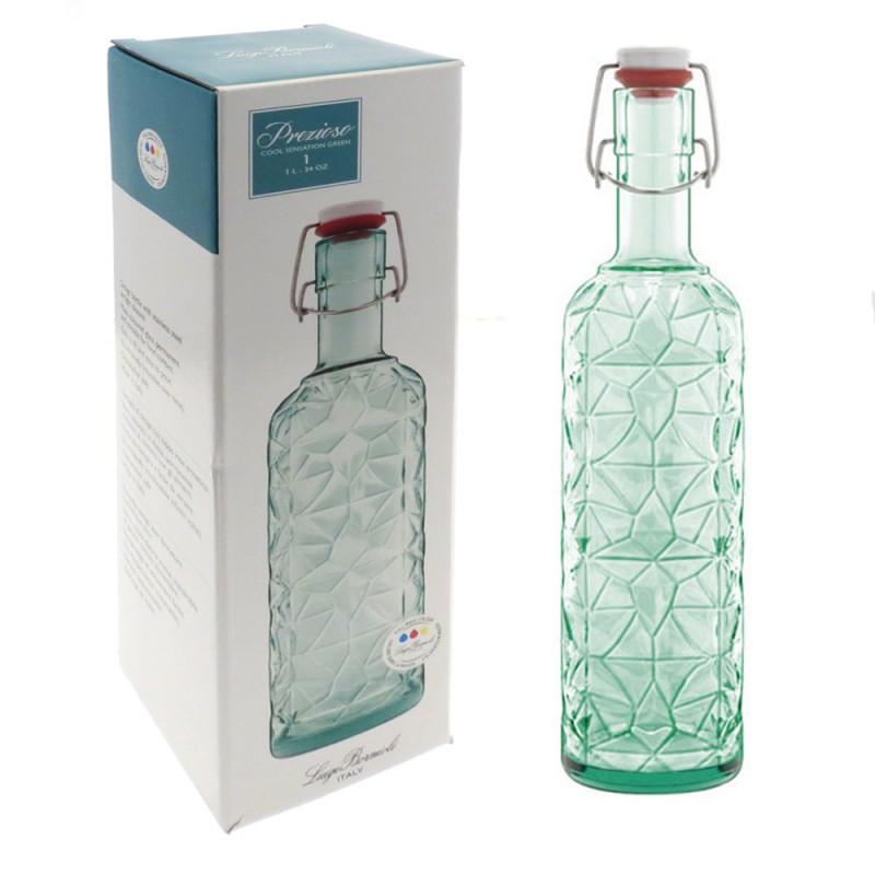 Бутылка с герм.крышкой 1 л Prezioso GREEN