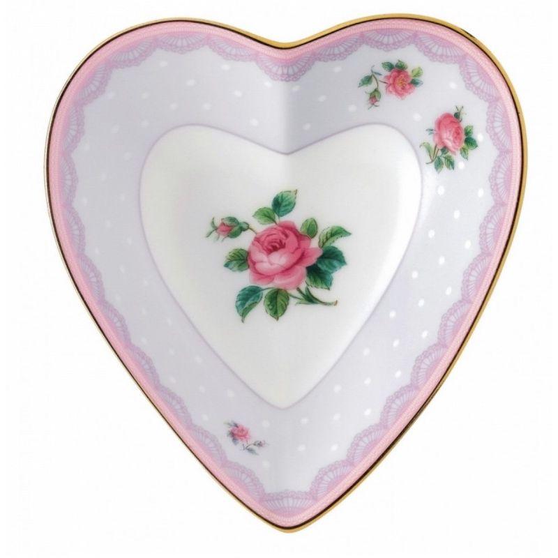 """Блюдце-сердце """"Сиреневая любовь"""" 13 см, Royal Albert"""