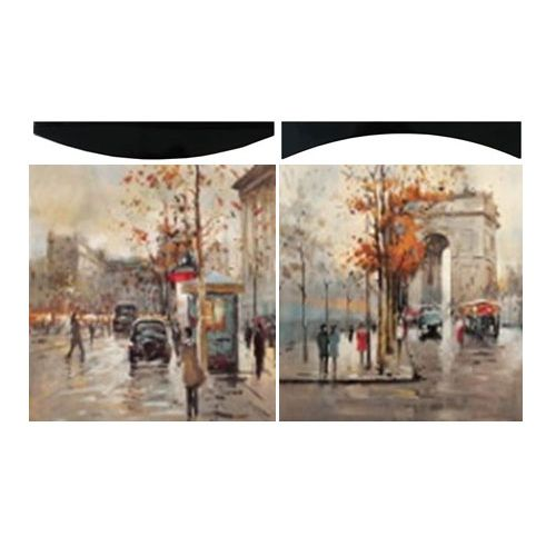 Картина Осень в Париже 58х58 см (пара)