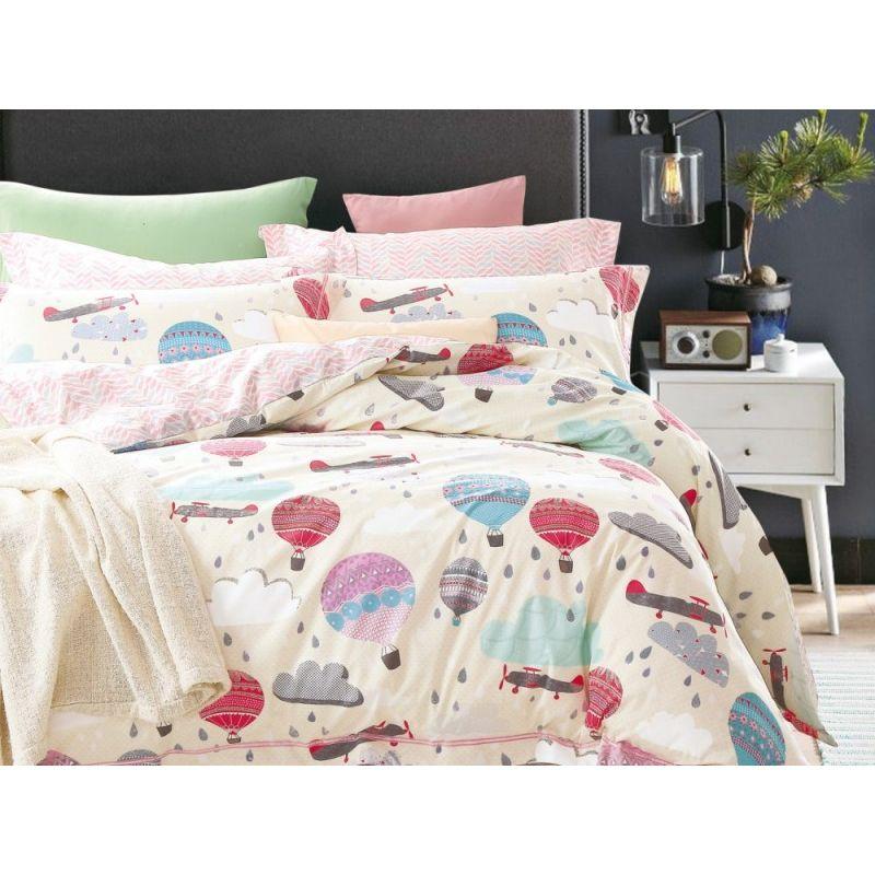 Комплект постельного белья 1,5-спальный, печатный сатин 985-4XS