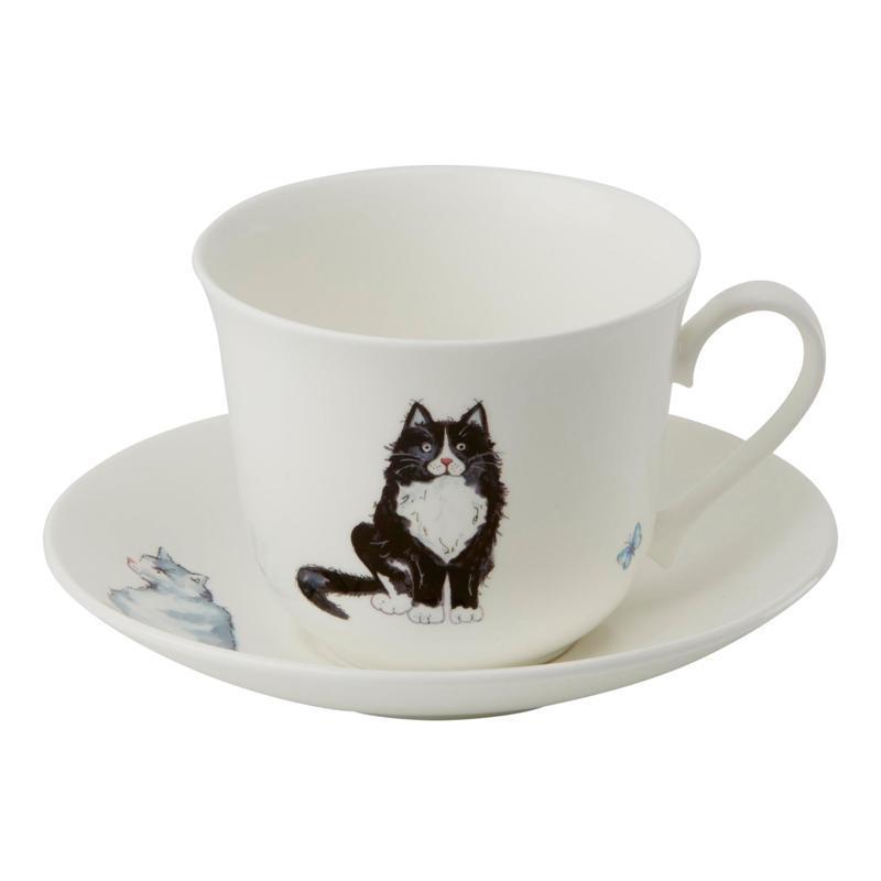 Чайная пара для завтрака Коты 500мл