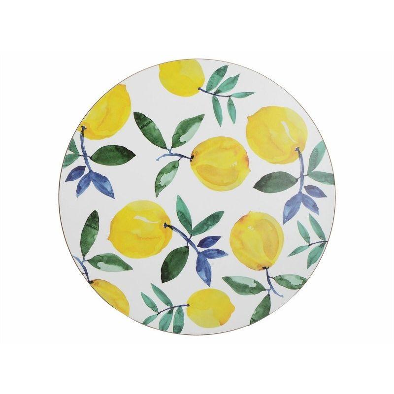 Подставки на пробке D29 см Лимоны (4 шт)