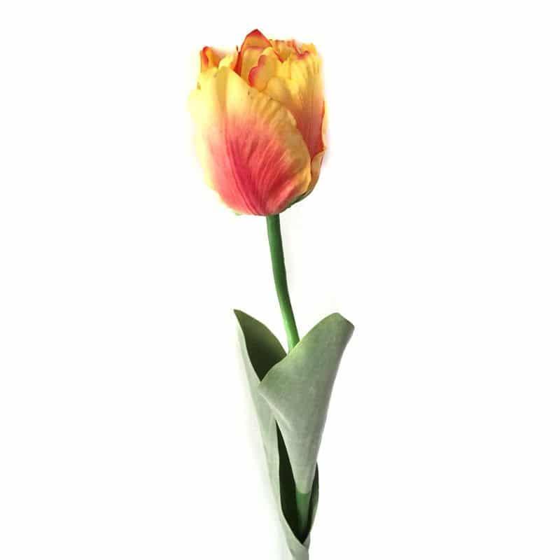 Тюльпан Триумф оранжево-красный 65 см живое прикосновение