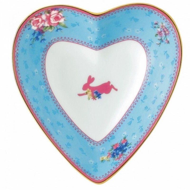 """Блюдце-сердце """"Милый кролик"""" 13 см Royal Albert"""