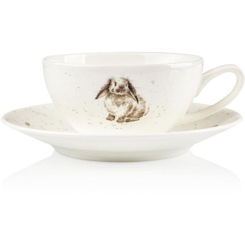 """Чашка для капучино с блюдцем Royal Worcester """"Кролик"""" 220мл"""