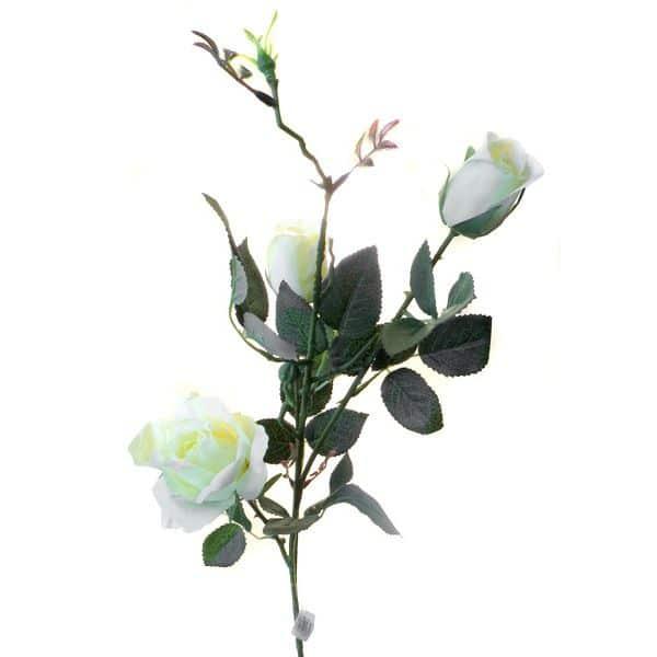 Роза Эльдорадо 3 ветки кустовая желтая живое прикосновение 85 см