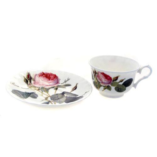Чайная пара низкая 200 мл Роза Редаут