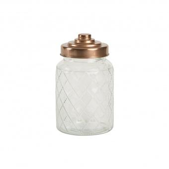 T&G Ёмкость для хранения средняя Glass Jars Lattice 18,5*10,3 см