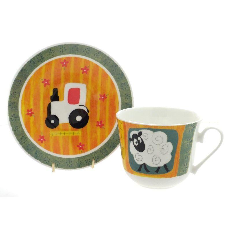 Забавная ферма/Чайная пара для завтрака 500мл