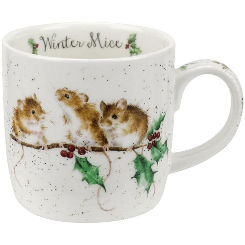 """Кружка Royal Worcester """"Новогодние мышки"""" 310мл"""