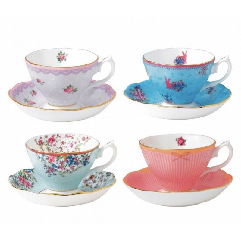 "Набор чайных пар ""Канди микс"" 8 предметов, Royal Albert"