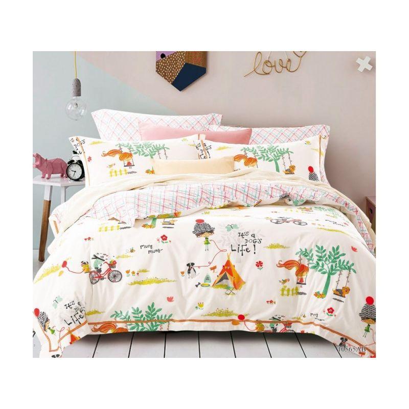 Комплект постельного белья 1,5-спальный, печатный сатин 979-4XS
