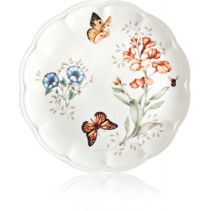 "Тарелка обеденная Lenox ""Бабочки на лугу.Бабочка-Монарх"" 27,5см"