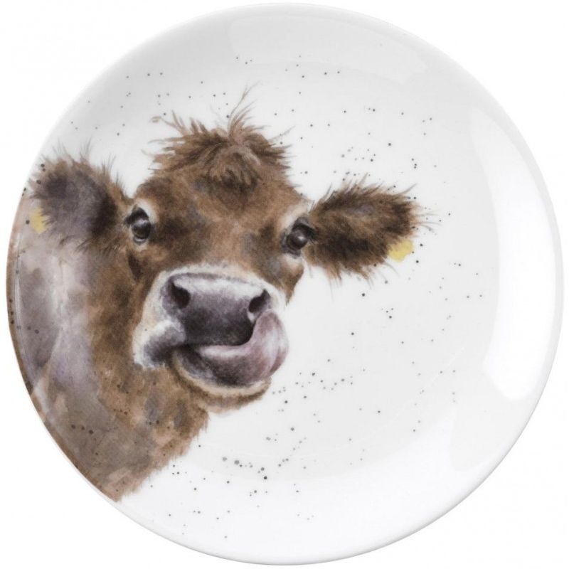 """Тарелка десертная Royal Worcester """"Забавная фауна.Корова"""" 16,5см"""