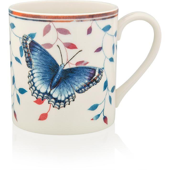 """Кружка Lenox """"Бабочки на лугу.Тёмно-синяя"""" 300мл,"""