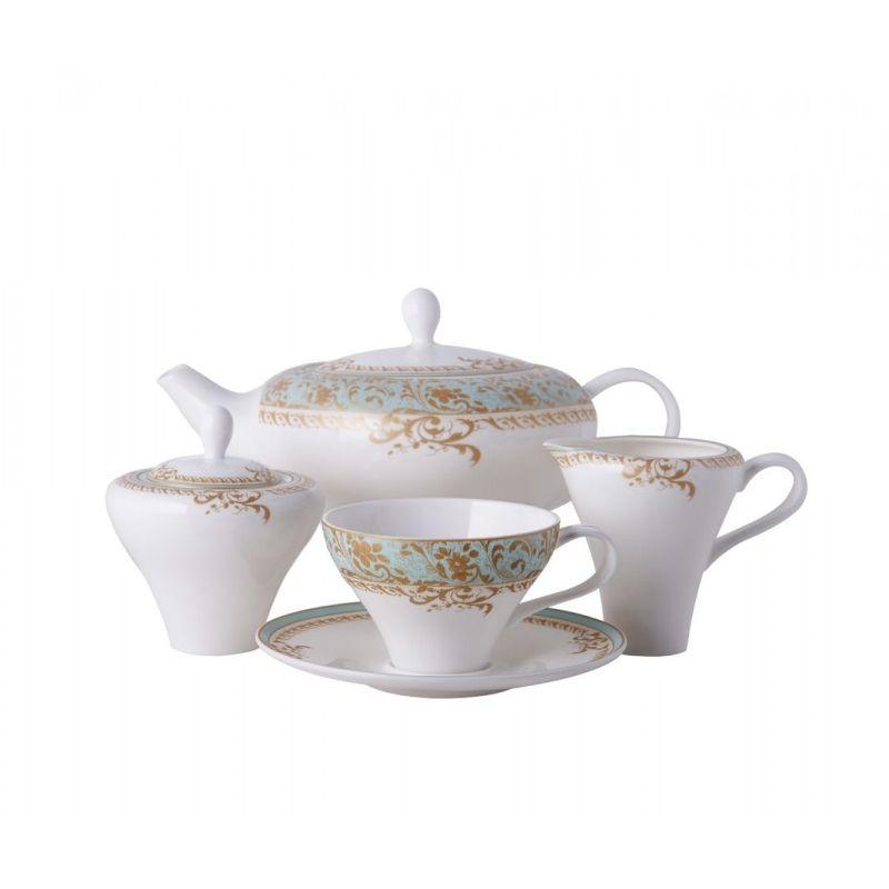 Фонтебло чайный сервиз, 15 предметов, 6 персон