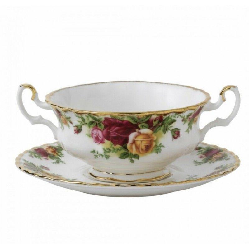 Бульонная чашка с блюдцем 330 мл Розы Старой Англии