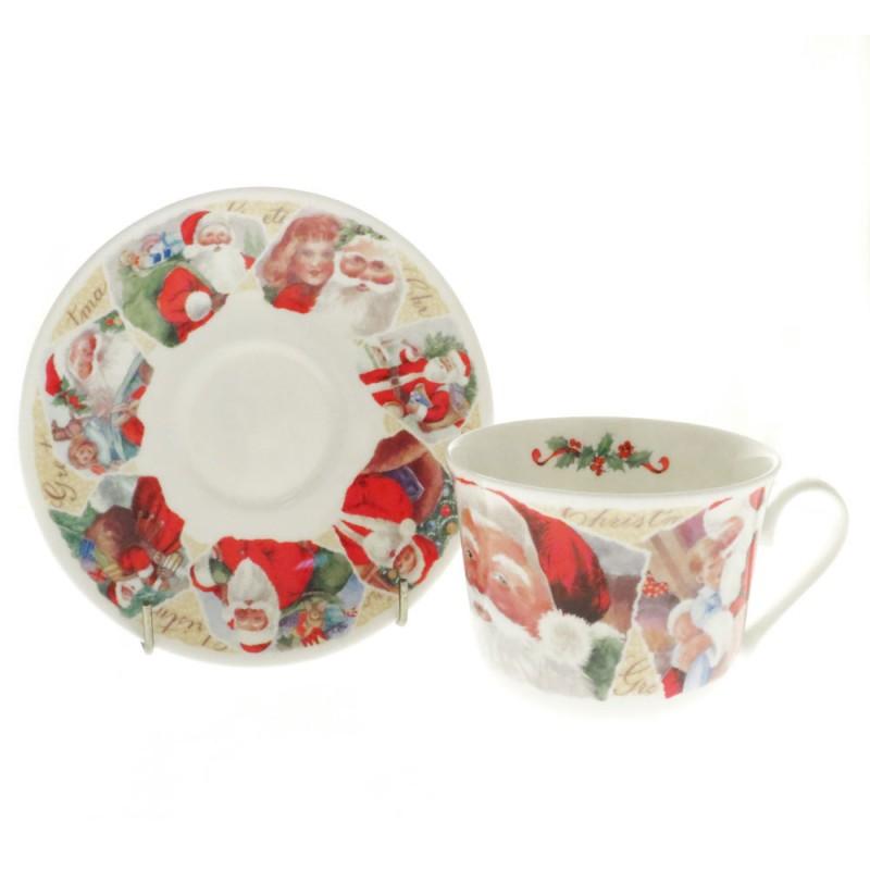 Чайная пара для завтрака Рождественские пожелания 500мл
