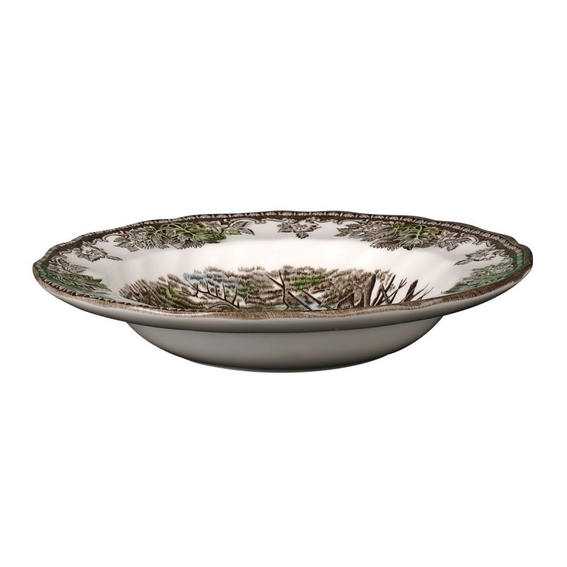 Тарелка суповая 22см Деревенька