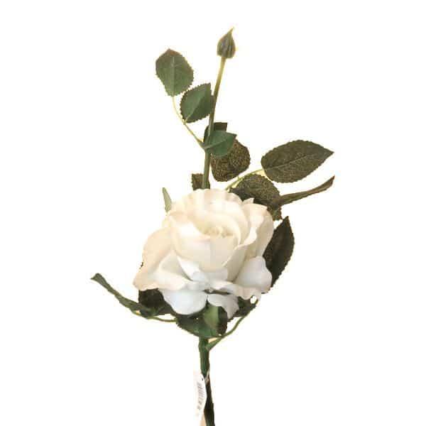 Роза Лимбо с почкой белая 30 см живое прикосновение