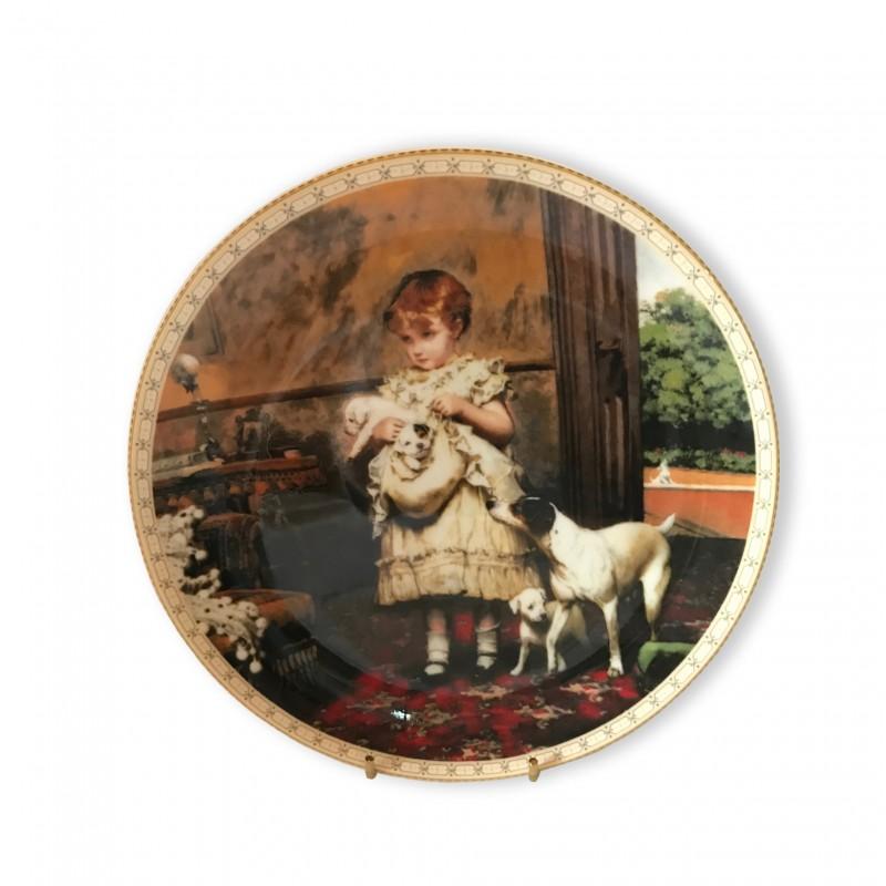 """Декоративная тарелка 21 см Викторианское Детство, """"Мой драгоценный комплект"""""""