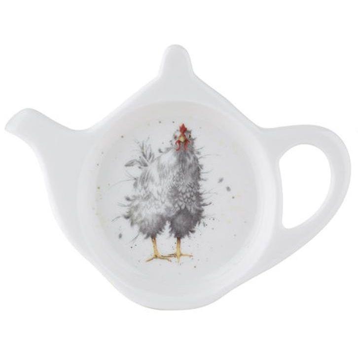 """Подставка для чайного пакетика Royal Worcester """"Забавная фауна.Любопытная курица"""" 13см"""