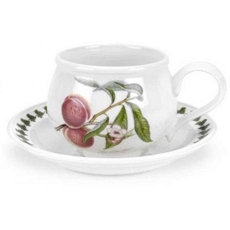 """Чашка чайная с блюдцем 200мл """"Помона"""" """"Персик"""""""