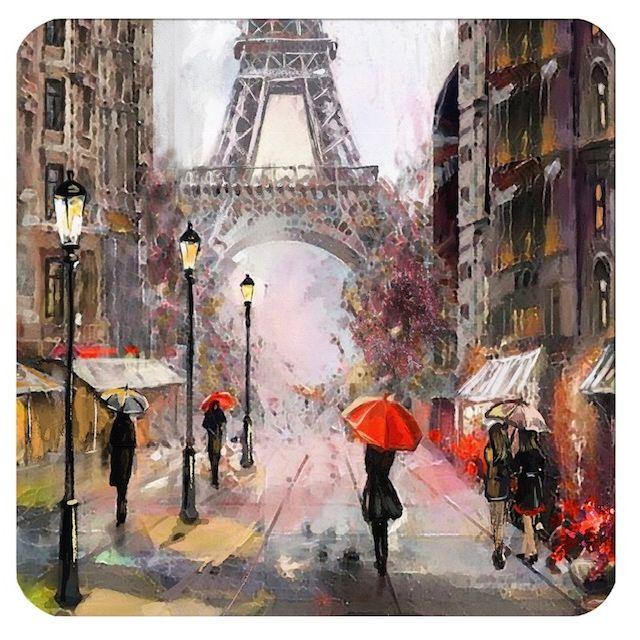 Подставки под стакан Свидание в Париже 10,5х10,5 см (6шт)