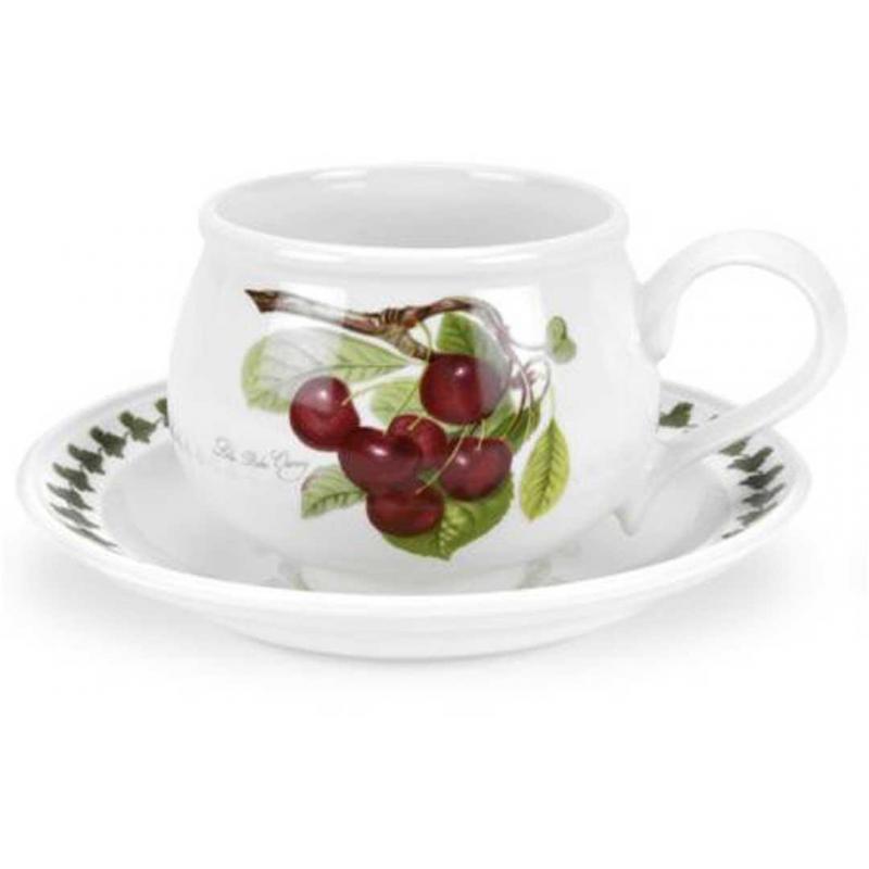 """Чашка чайная с блюдцем 200мл """"Помона"""" """"Вишня"""""""