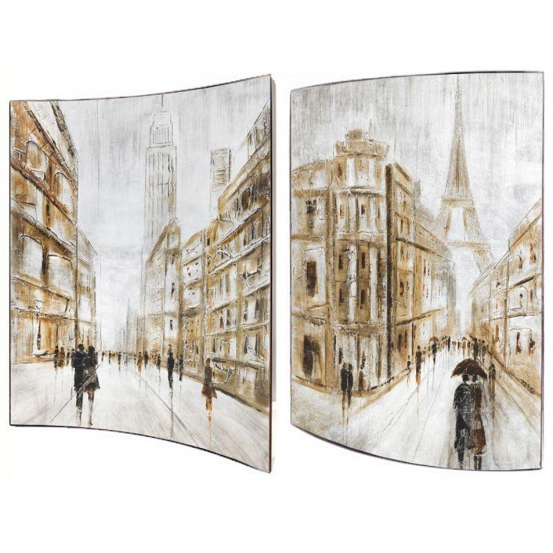 Картина Зарисовки города 41X51 см (пара)