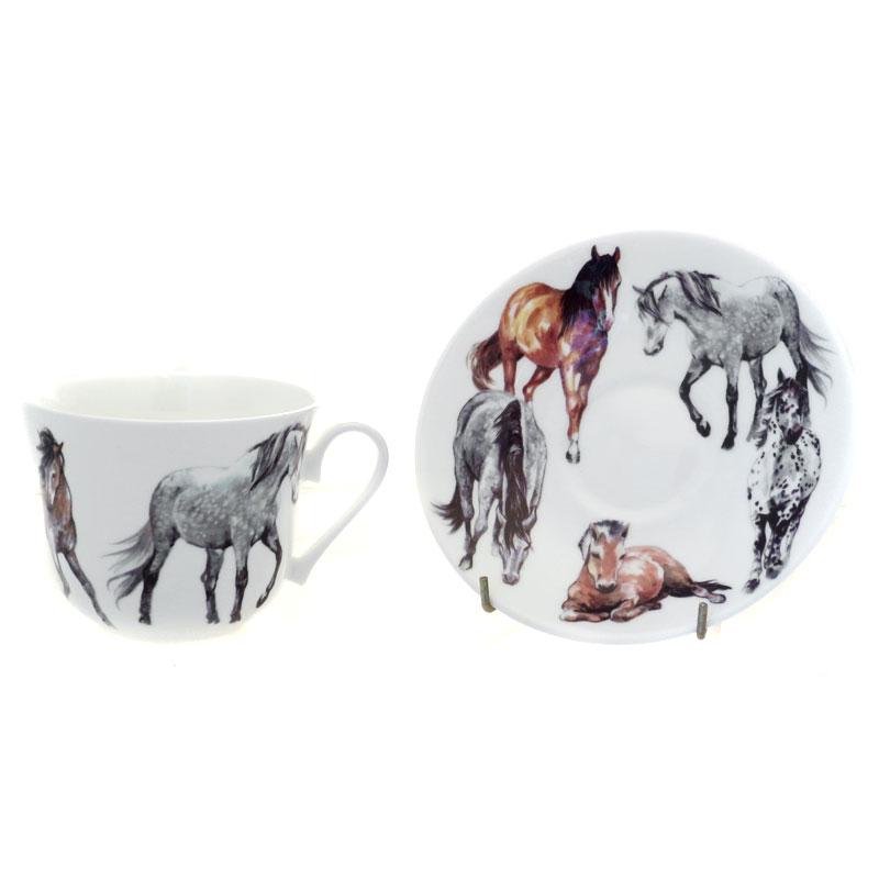 Чайная пара для завтрака Моя лошадь 500мл