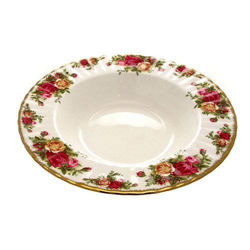 Тарелка суповая 24см Розы Старой Англии