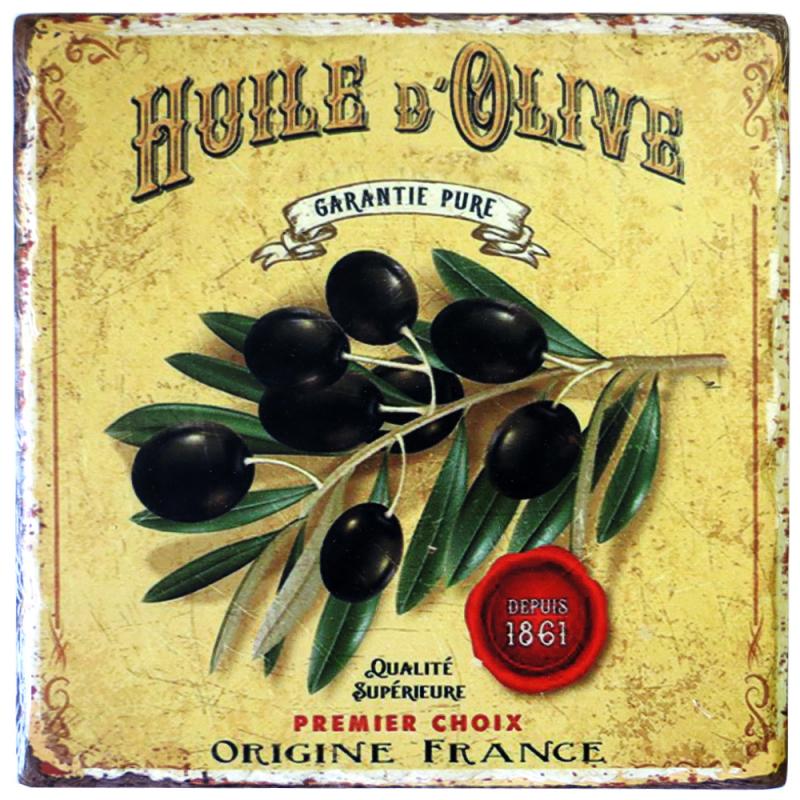Подставка под горячее Греческие оливки 20х20см