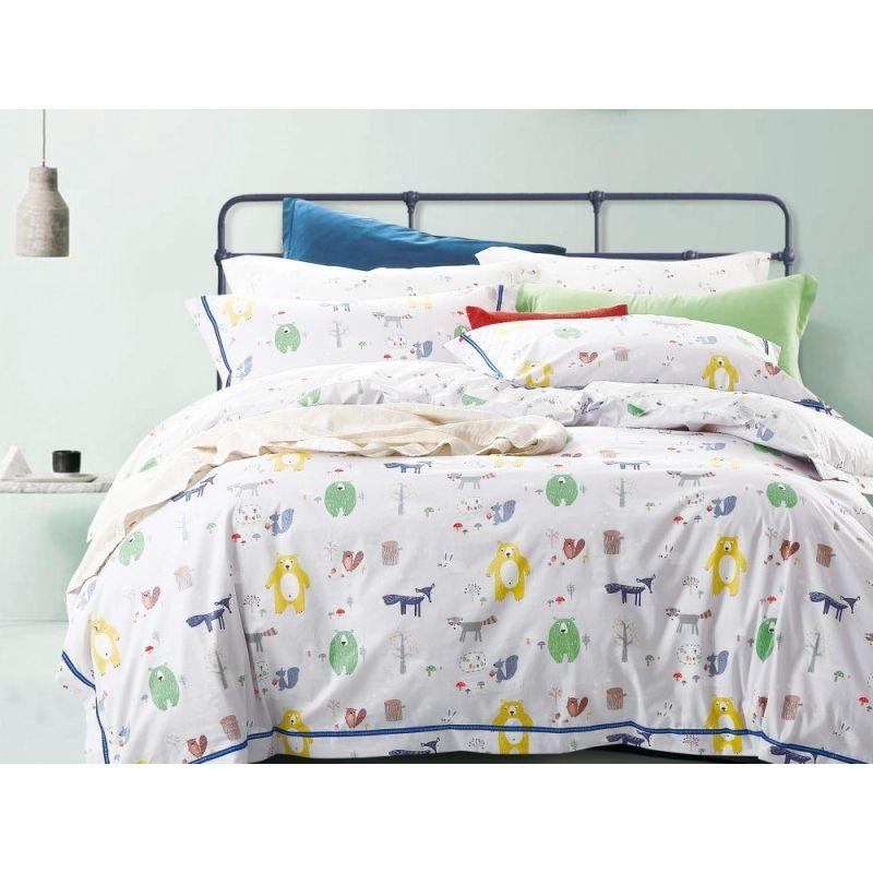 Комплект постельного белья 1,5-спальный, печатный сатин 996-4XS