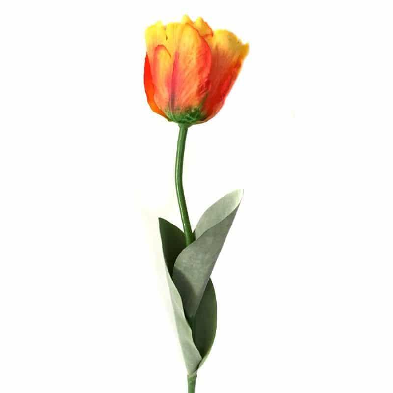 Тюльпан Триумф оранжевый 65 см живое прикосновение
