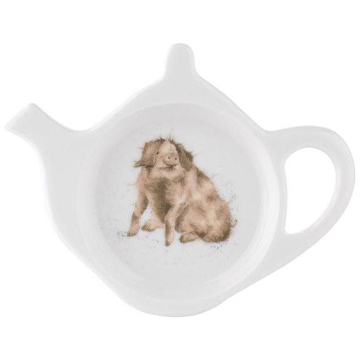 """Подставка для чайного пакетика Royal Worcester """"Забавная фауна.Трюфельная свинья"""" 13см"""