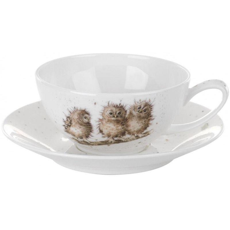 """Чашка для капучино с блюдцем Royal Worcester """"Забавная фауна"""" 300мл"""