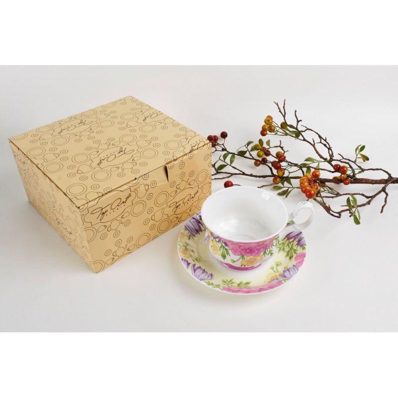 Чайная пара для завтрака Вальс цветов 400 мл