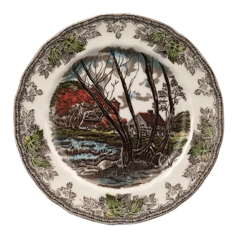 Тарелка 20см Деревенька