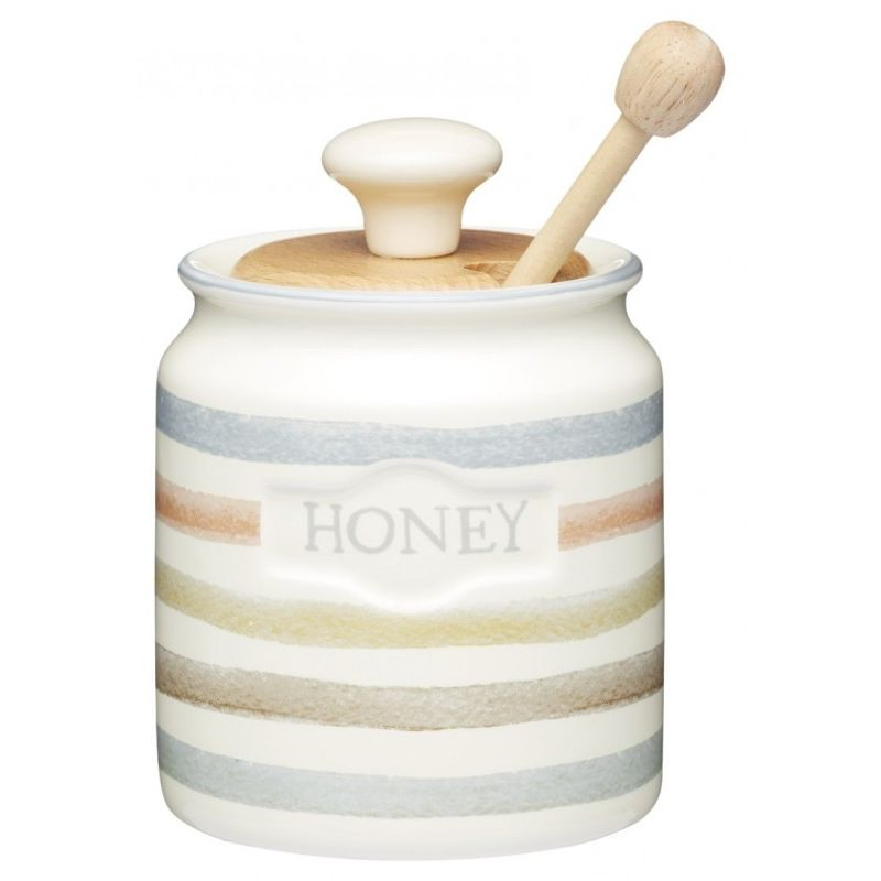 Классик Горшочек для меда с деревянной ложкой 450мл 8*13,5 см