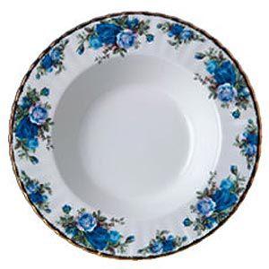 Тарелка суповая 24 см Розы в Лунном Свете